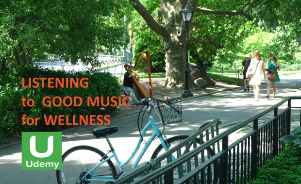 Listening to Good Music for Wellness in Udemy copia